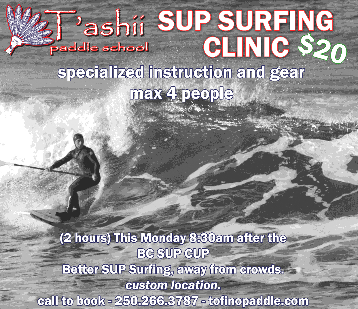 sup surfing in tofino bc
